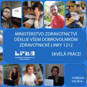 Ministerstvo zdravotnictví spouští novou linku pro veřejnost, zdravotnická část linky 1212 končí