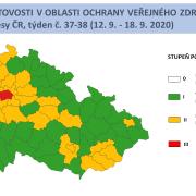 V Praze přetrvává červený stupeň pohotovosti, dooranžového stupně nyní spadá 28 okresů