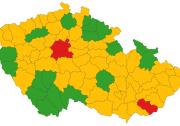Komunitní přenos covid-19 jenově vokresech Uherské Hradiště, Praha-západ aPraha-východ