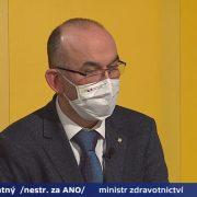 Ministr Jan Blatný byl hostem Událostí, komentářů vČeské televizi