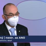 Ministr zdravotnictví Jan Blatný byl hostem neděleních Otázek Václava Moravce