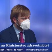 Staronový ministr zdravotnictví Adam Vojtěch byl hostem Událostí, komentářů naČT24