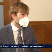 Rozhovor sministrem Adamem Vojtěchem pro pořad Týden vpolitice naČT24