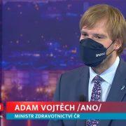 Ministr Adam Vojtěch byl hostem pořadu Týden podle Jaromíra Soukupa naTV Barrandov