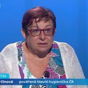 Pověřená hlavní hygienička Pavla Svrčinová byla hostem Interview ČT24